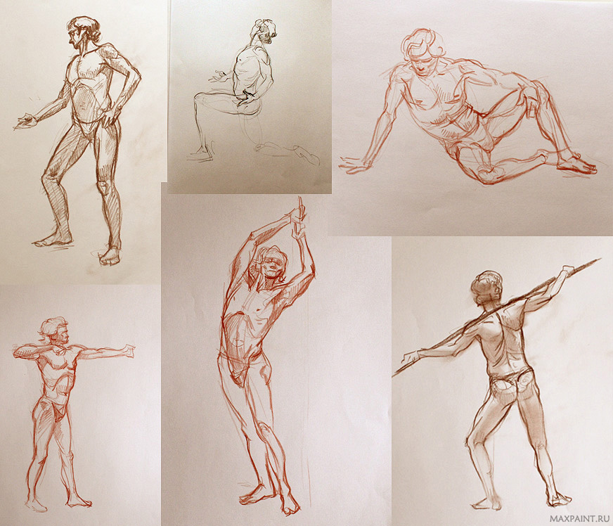 Anatomy sketches by KateMaxpaint