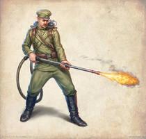 Flamethrower by KateMaxpaint