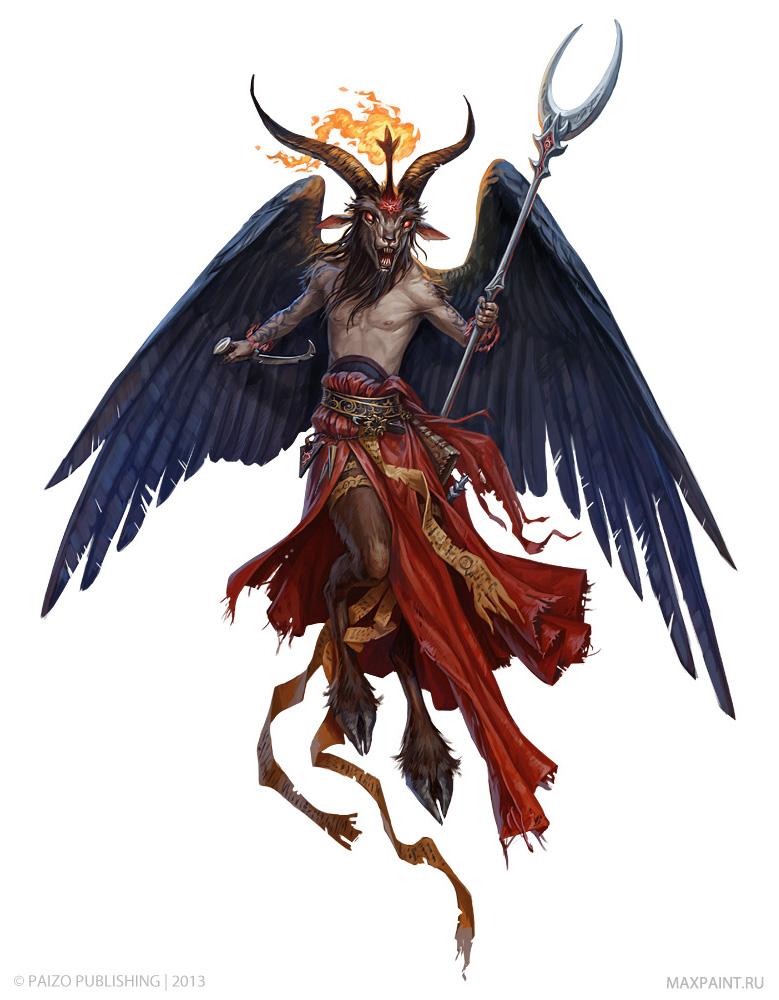 Demon Lord Baphomet by KateMaxpaint