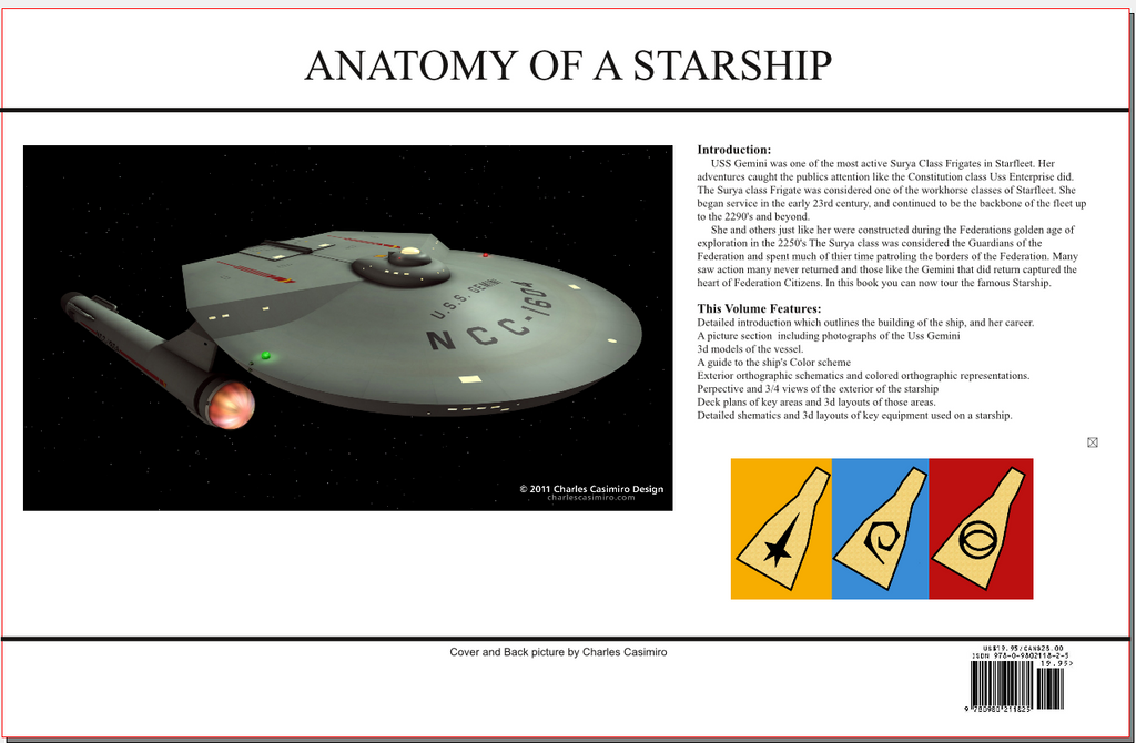 ANATOMY of a Starship Surya back by Bernard-Guignard