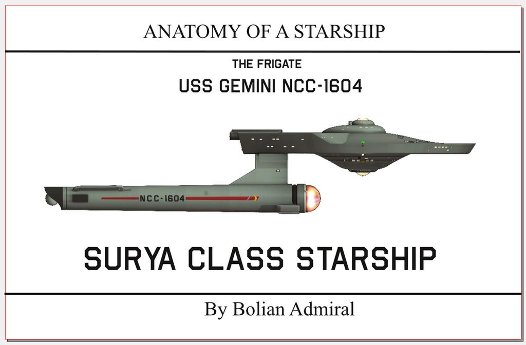ANATOMY of a Starship Surya front by Bernard-Guignard