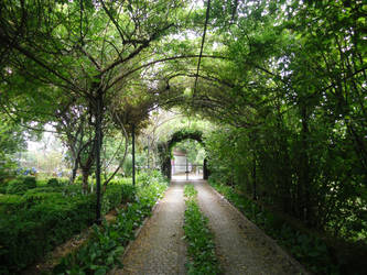 Chemin vers le portail by LiliPoun