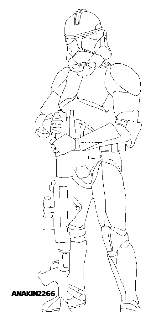 Phase 2 Clone Trooper Coloring Pages