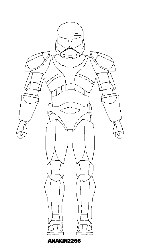 Clone commando lineart by jedianakinskyguy on deviantart for Clone trooper coloring pages