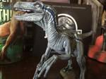 Velociraptor Blue Model close up by JediAnakinSkyguy