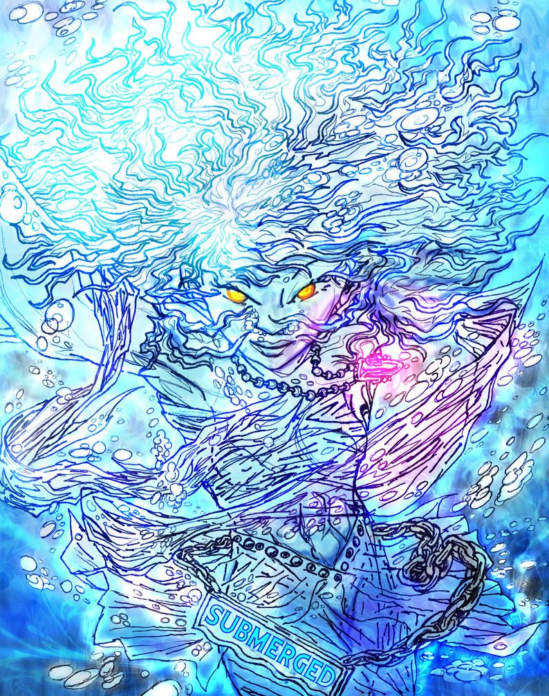 Submerged - Ghost Angel 2 by Nightphoenix2