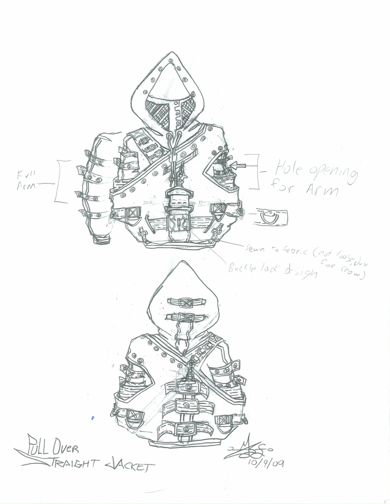 Straight jacket Hoodie by Nightphoenix2 on DeviantArt