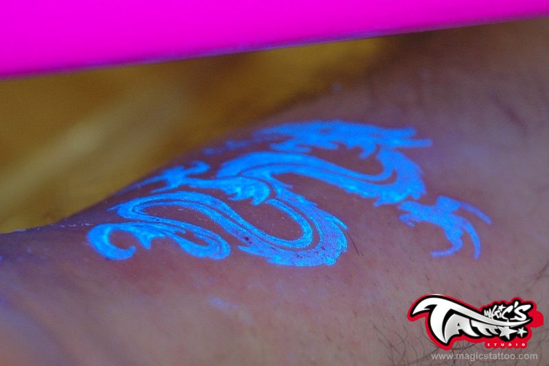 Dragon uv tattoo picture