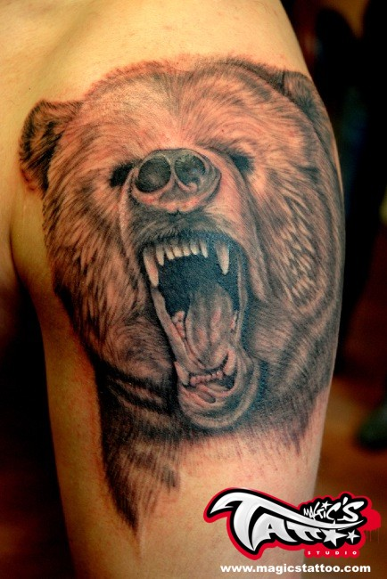 bear tattoo cork ireland by magicstattoostudio on deviantart