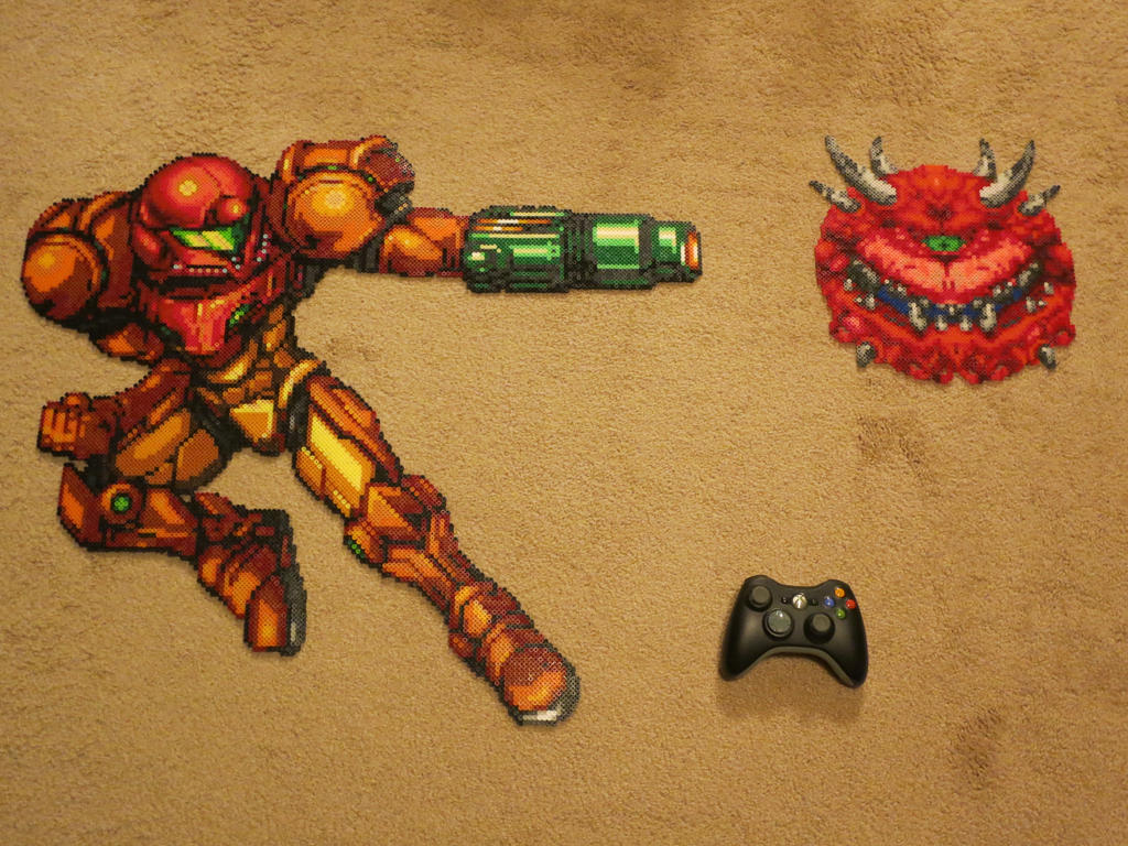Samus vs Cacodemon by Wacker00