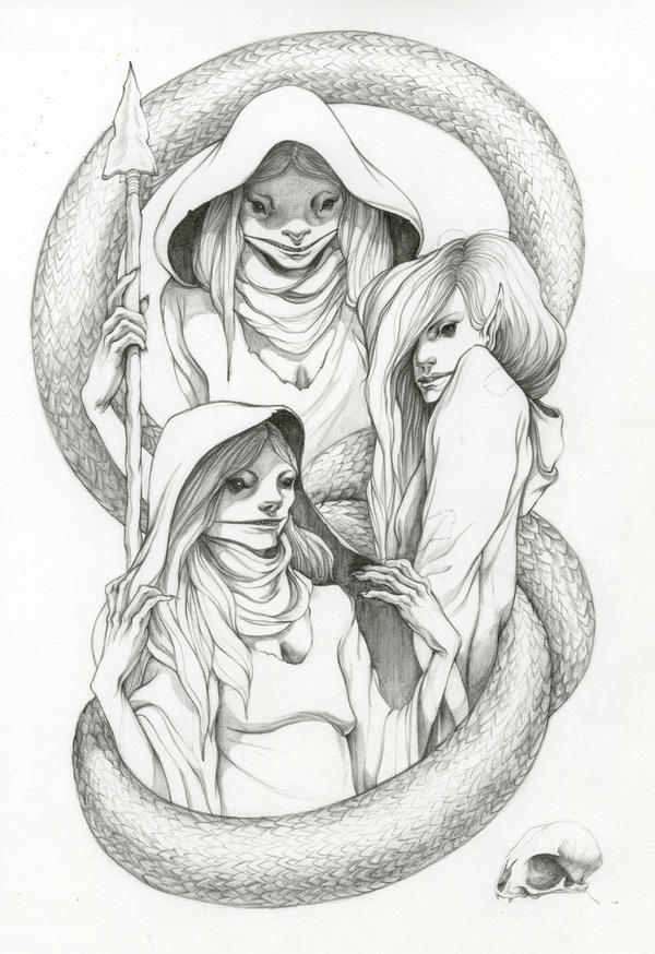 Drawings Of Good Witches Drawing 3, the three witches
