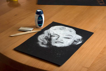 Marilyn Monroe Salt Art by MDefour