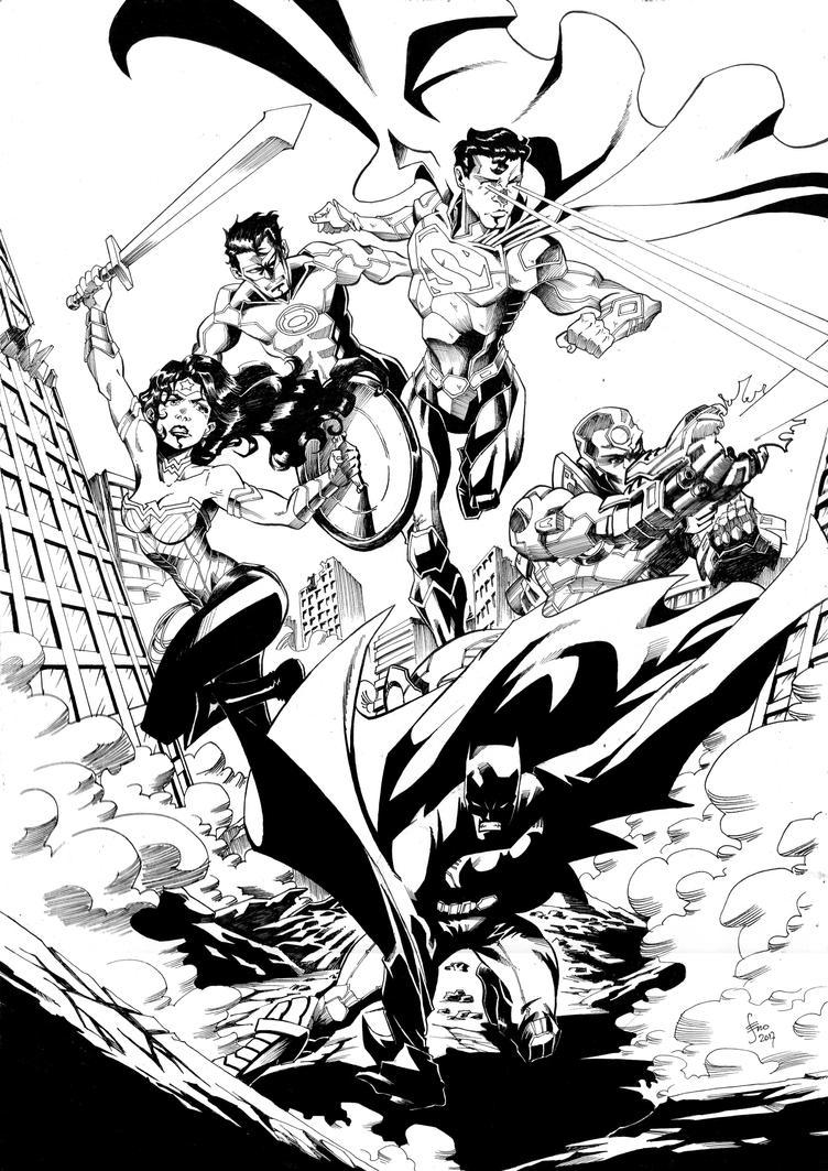 Justice-League-Ink by Seno85