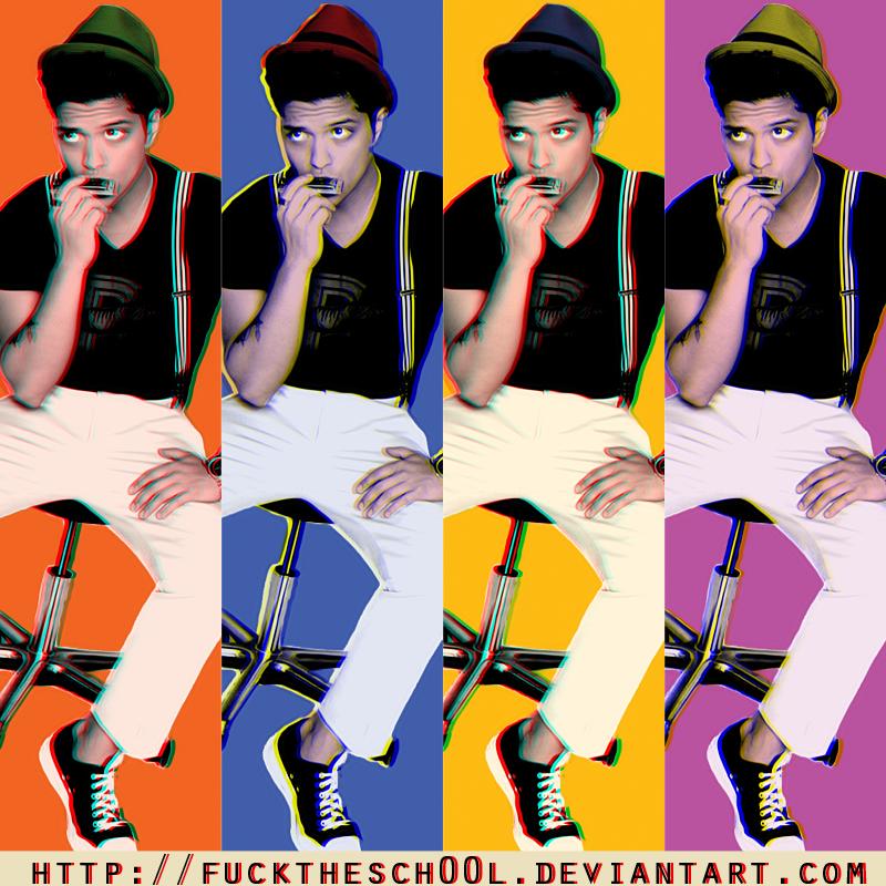 Bruno Mars POP ART 3D effect by Fuckthesch00l