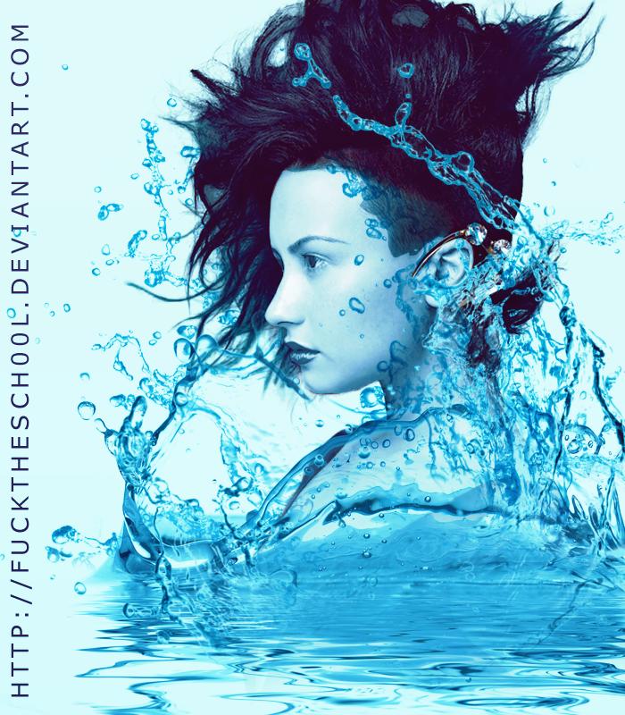 Water Effect (Demi Lovato) by Fuckthesch00l