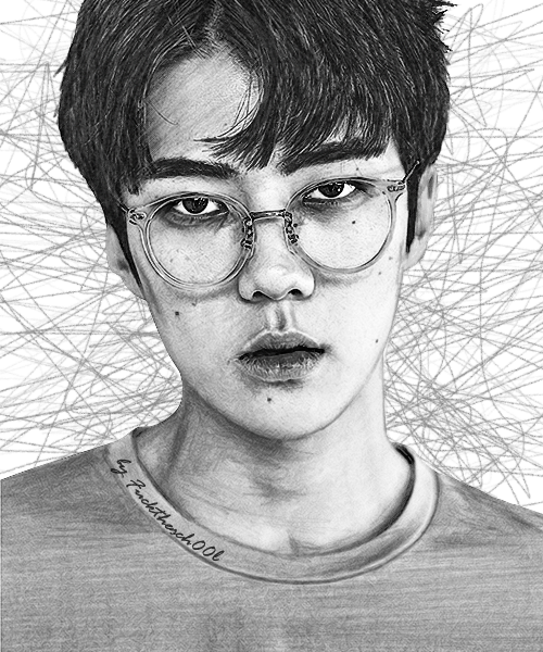EXO SEHUN DRAWING by Fuckthesch00l