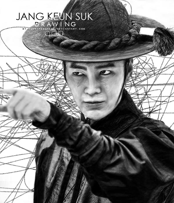 Jang Keun Suk Drawing by Fuckthesch00l