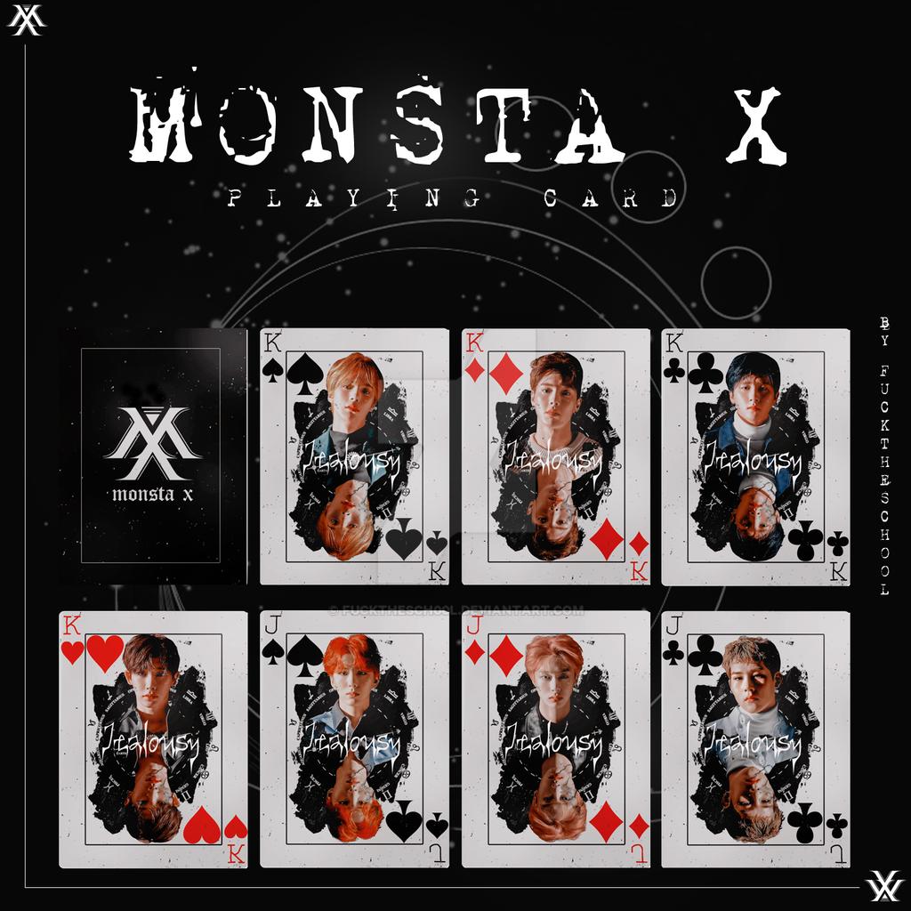 MONSTA X PLAYING CARD by Fuckthesch00l