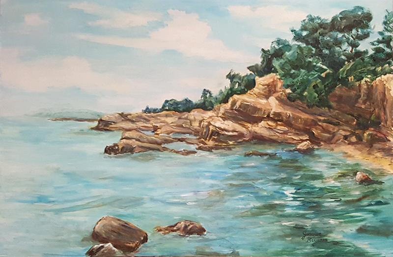A la cote sud d'Ile Sainte-Marguerite by CaptainPharos