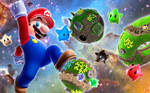 Mario Galaxy Jump Wallpaper