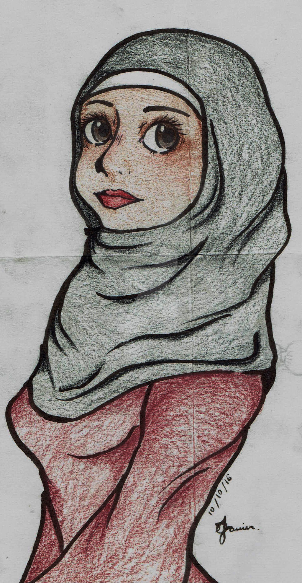 Pretty muslim girl by dani java