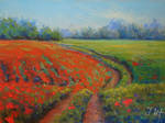 Poppy landscape. 1 part.