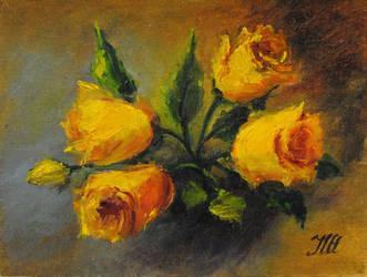Yelow roses by herrerojulia
