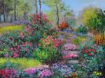Spring at backyard garden.