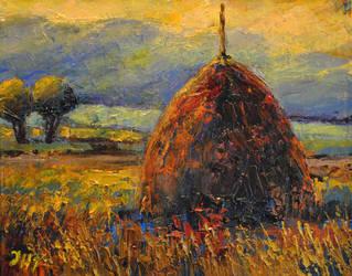 Hay stack. Part  2. by herrerojulia