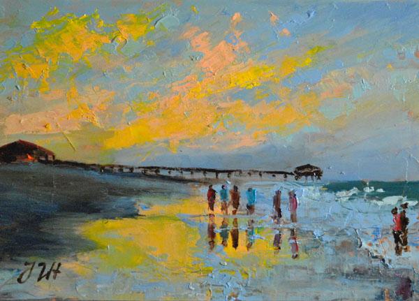 Long walk on the beach. Tybee island. by herrerojulia
