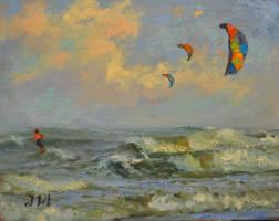 Kitesurfing. Tybee island. by herrerojulia