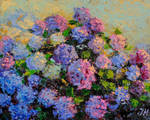Hydrangea abstract style.