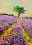 Lavender field miniature.