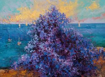 Wisteria ocean view. by herrerojulia
