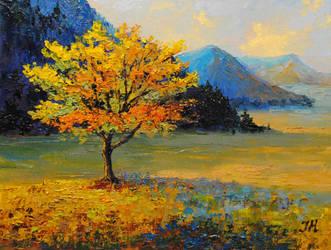 Autumn tree. by herrerojulia