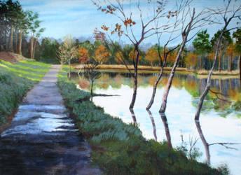 French Village Lake. by herrerojulia