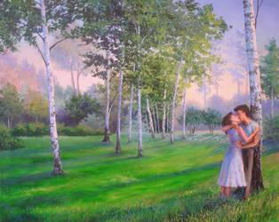 Love in birches. by herrerojulia