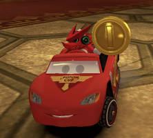 Shoutmon in Mario Kart 8 (Wii U)