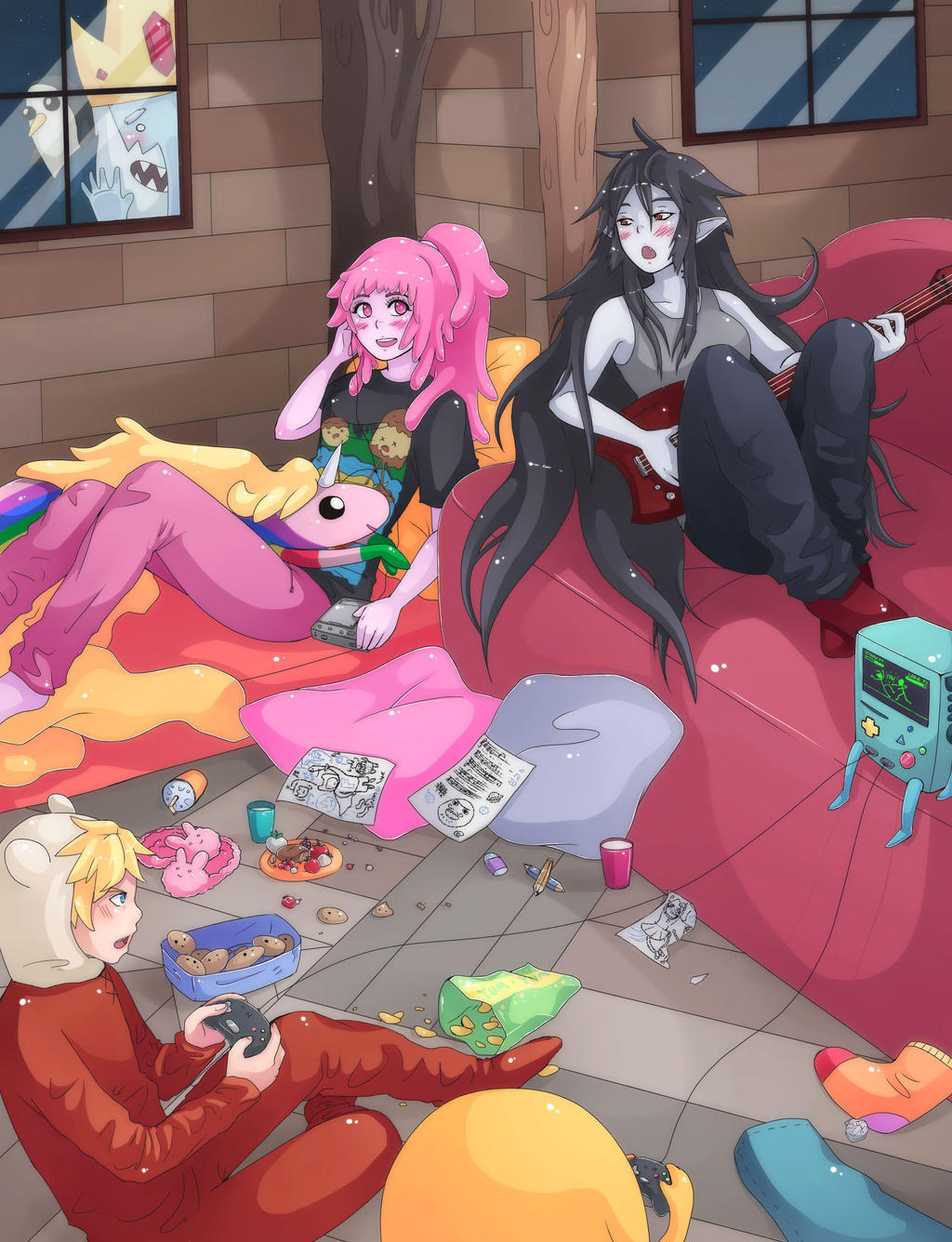 sleepover by majigoma