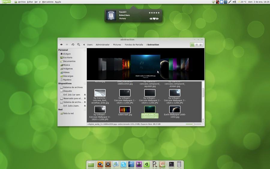 Linux Mint 10 Coverflow By D14gvn On Deviantart
