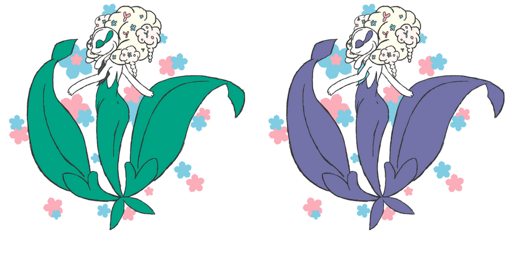 White Flower Florges and Shiny by Chidori-Rain on DeviantArt