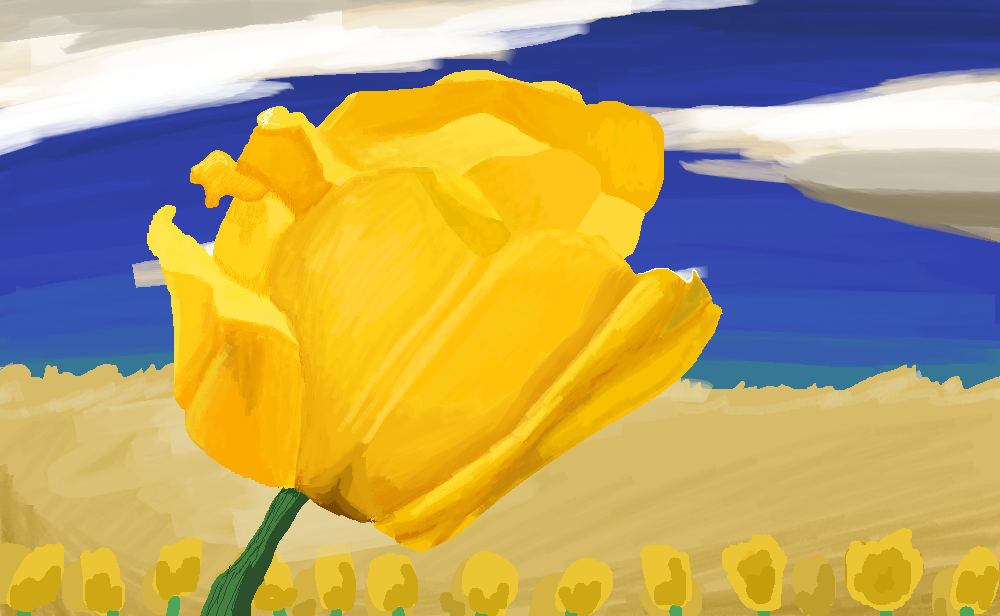 Yellow Tulip by Deathllamas33