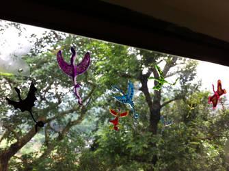 Handmade Window Stickers - Dragons