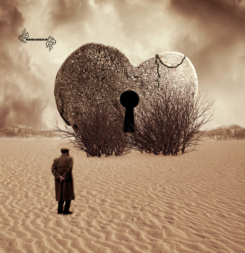 Locked heart by MarkOo-ART