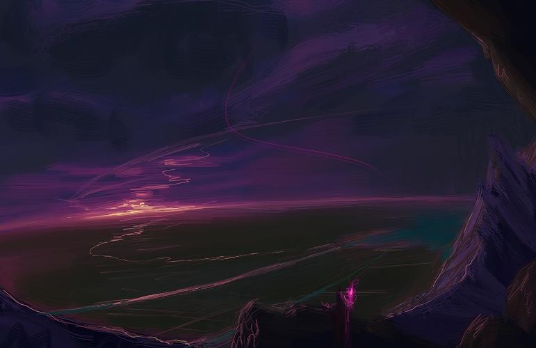 Vibrant Purple Sunset by DM7