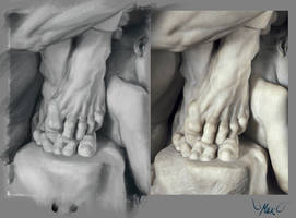 Study: Ugolino and His Son Feet by DM7