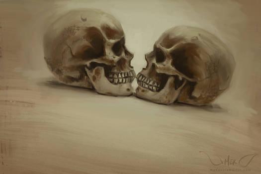 Speedpaint: Halloween 2015 Skull Study