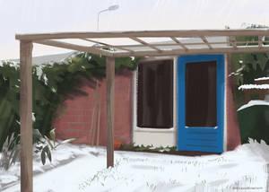 Study: Plein Air of my backyard