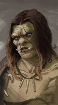 Speed Painting: Ugly Orc with Sexy Hair