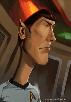 Caricature: Mr. Spock